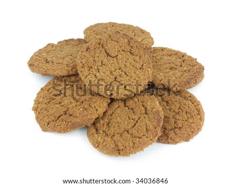 Ginger snap cookies - stock photo