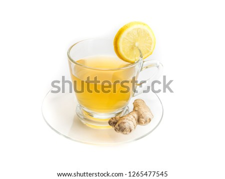 Ginger Tea Cup Isolated #1265477545