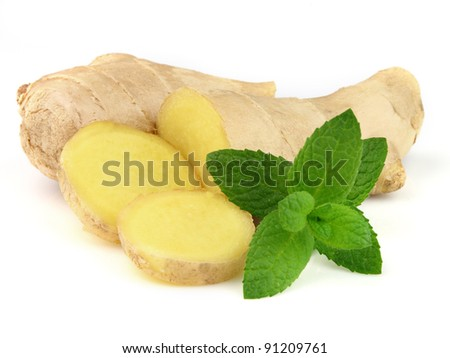 Ginger with mint