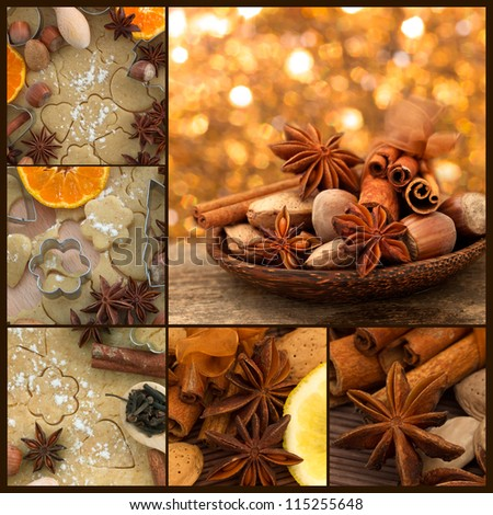 gingerbread and xmas decoration
