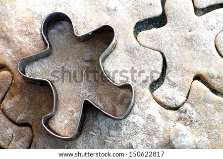 gingerbread cookies with copper cookie cutter