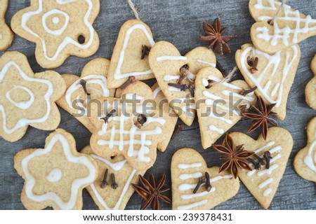 gingerbread cookies with spices #239378431