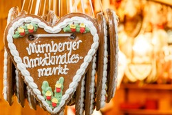 Gingerbread Hearts at Nuremberg Christmas Market