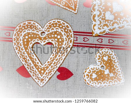 Gingerbread hearts christmas #1259766082