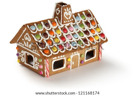 gingerbread house, candy house