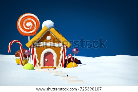 gingerbread house with candy on ...