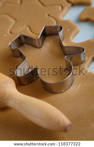 Gingerbread man baking