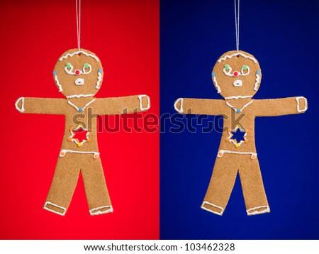 gingerbread man cookies for christmas and hanukkah