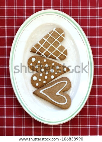 Gingerbread on a plate, Sweden.