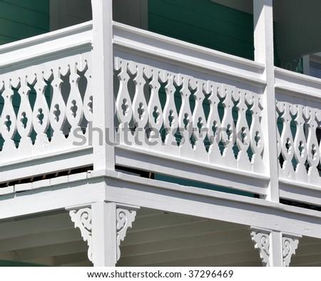 gingerbread railing closeup