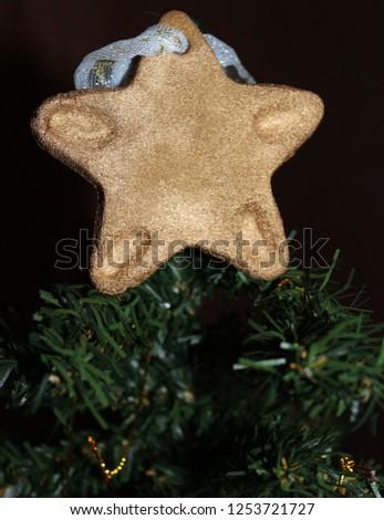 gingerbread star tree topper #1253721727