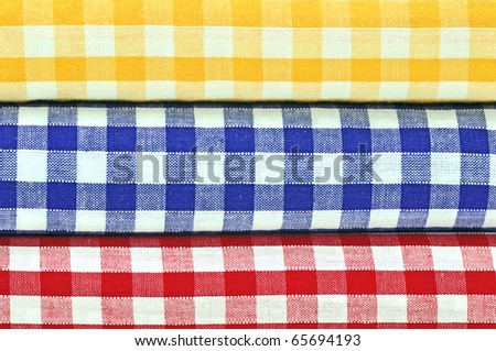 Gingham Cloths Closeup