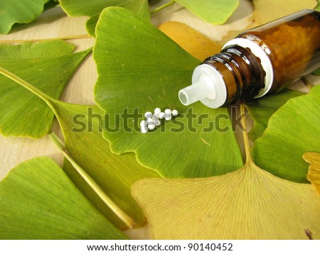 Ginkgo and homeopathic pills