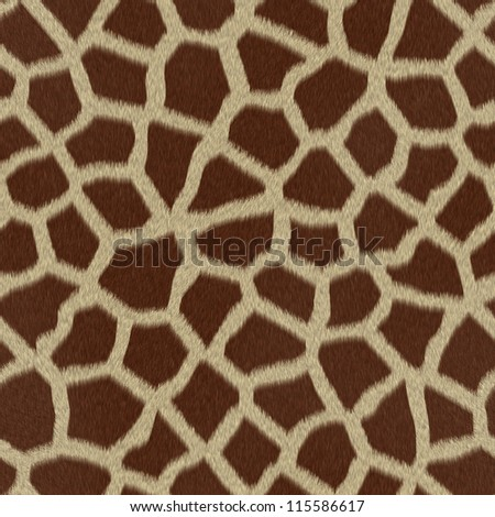 Giraffe fur (skin) background or texture - stock photo