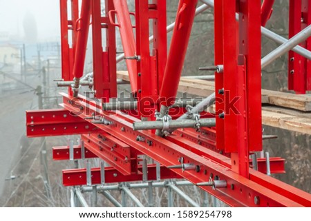 Girder system on the reconstruction of the bridge