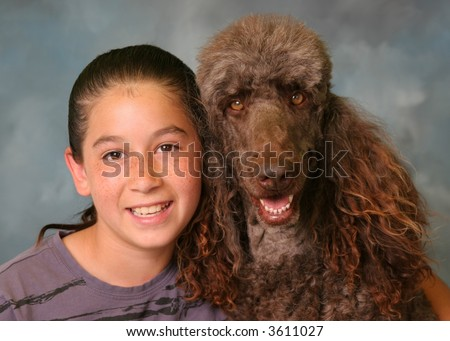 Girl and Standard Poodle