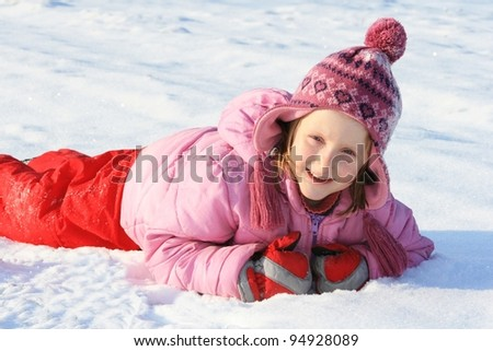girl and winter games