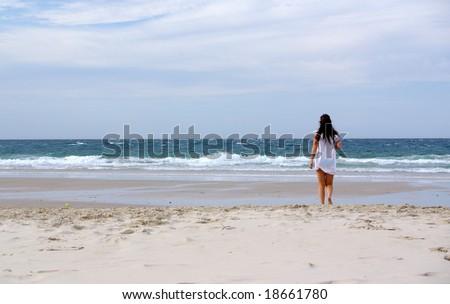 Girl at Byron Bay Beach