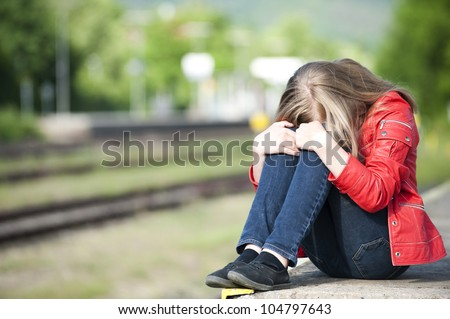 Girl at the station