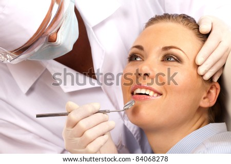 girl came for a visit to the dentist
