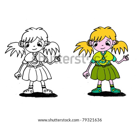 clipart cartoon characters. activity, age, banner, blank, boy, cartoon, children, clip-art, collection,