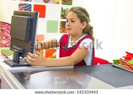 Girl cashier