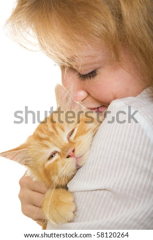 girl cat pet owner kitten women