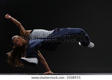 Girl Dancing Break-Dance Style Stock Photo 3508915 : Shutterstock