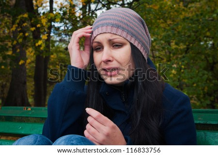 girl depressed and crying