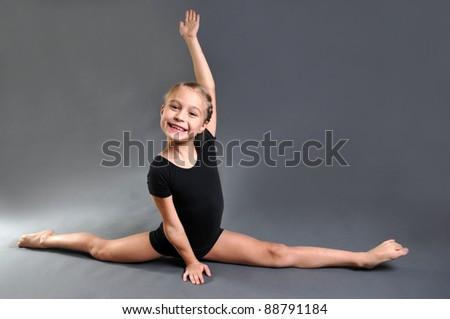 girl doing gymnastic exercises