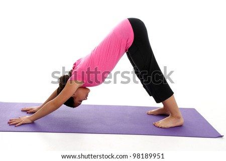 Downward dog stock photos illustrations and vector art