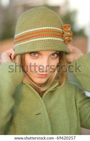 Girl dressed for winter