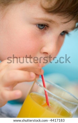 girl drink juic