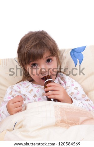 Girl drinking a cure