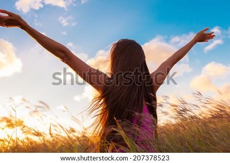 Girl enjoying the freedom.