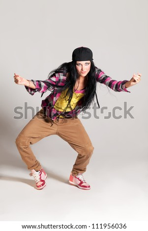 Girl enjoying the hip-hop dance