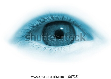 Girl eye in blue tone