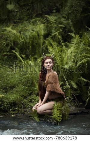 girl  fawn  tale  fantasy