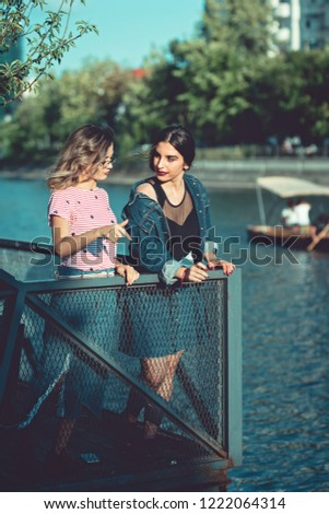 Girl friendship. girl in doubts, best friend always gives her honest feedback very direct and honest