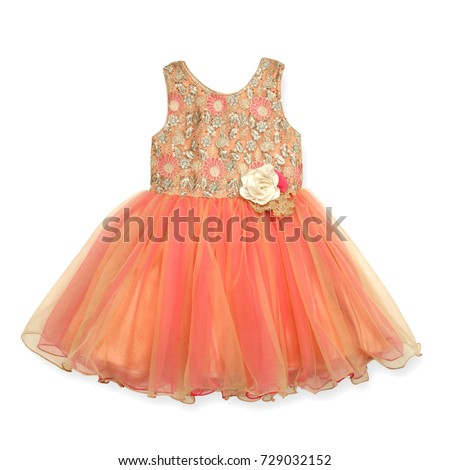 girl frock on an isolated white background Stock foto ©