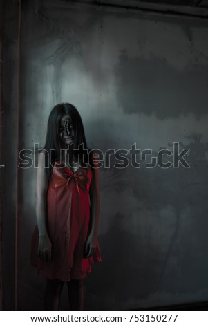 13482a80463 Girl ghost in red dress