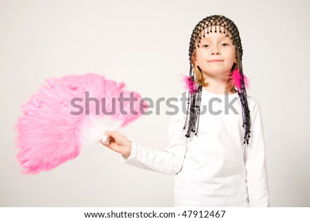 Girl going to carnival