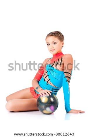 girl gymnast with the ball