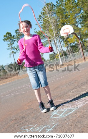 girl having fun on playground