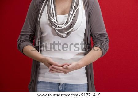 Girl holding something