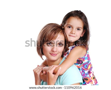 Girl hugging her mother