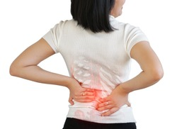 Girl Human Women Pain Injury Backache Hurt Spine Skeletal Concept.