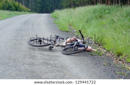 Girl hurt crashing bicycle accident