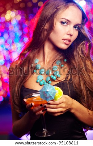 Girl in a stylish outfit spending time at a birthday party