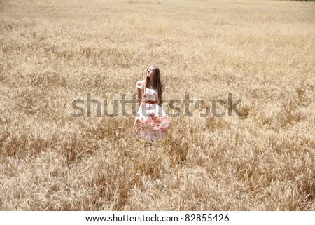 girl in a wheat field #82855426